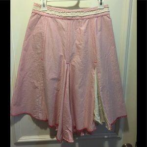 Free People Seersucker Cotton skirt Muskin sz 0
